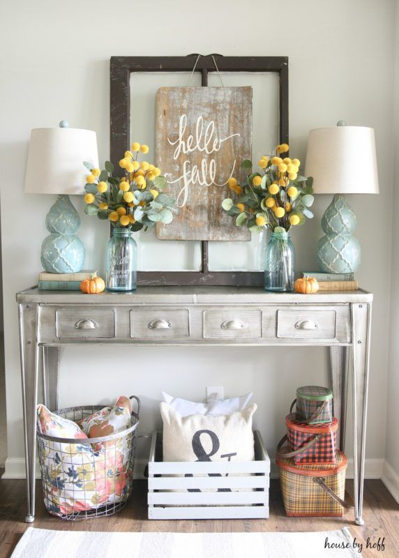 DIY Sign for Fall. Top 25  best Entryway table decorations ideas on Pinterest   Entry