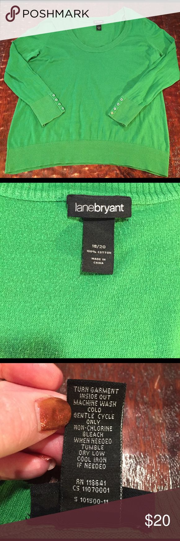 """Lane Bryant Scoop Neck Long Sleeve Sweater Lane Bryant Scoop Neck Long Sleeve Sweater Size 18/20. Sweater is 28"""" from shoulder to seam. Bust measures 24"""" laying flat. Sweater has slight fading but is otherwise in great condition. This is visible in pics. Comes from a Smoke Free/Pet Friendly home. Offers always welcome. Lane Bryant Sweaters Crew & Scoop Necks"""