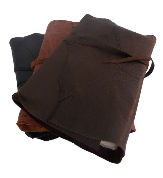 Rustic leather wrap journal with handmade paper #travel #boundinbendigo