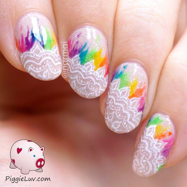 Piggieluv Rainbow Bubbles Nail Art: 25+ Best Ideas About Rainbow Nail Art On Pinterest