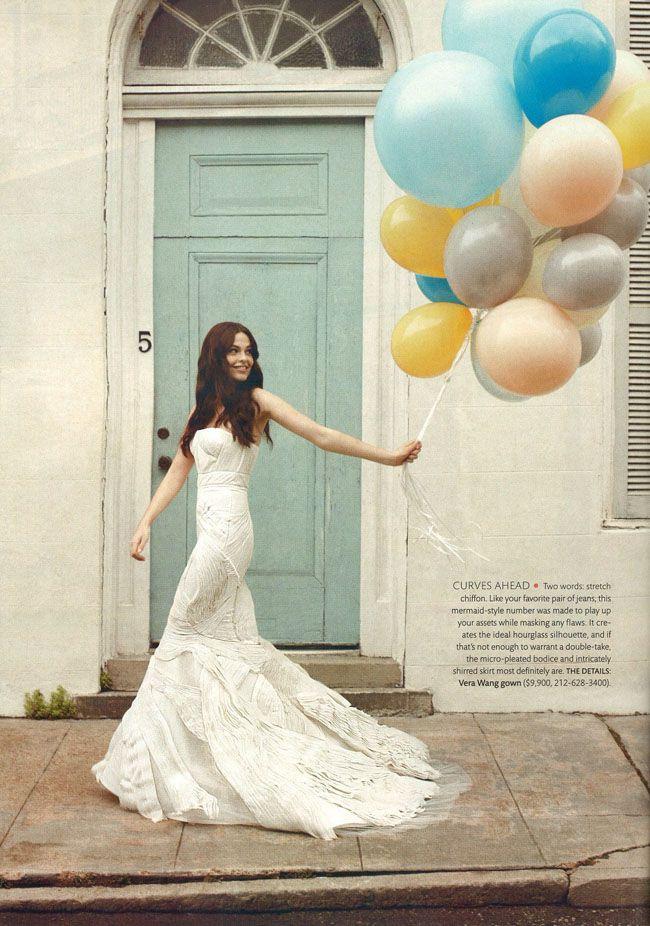 Weddings...: Vera Wang, Wedding Dressses, Photos Ideas, Weddings, Gowns, Martha Stewart, Bride, The Dresses, Balloon