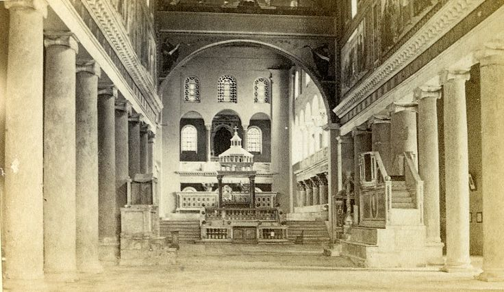 Italy Roma Church of San Lorenzo Old CDV Photo 1870