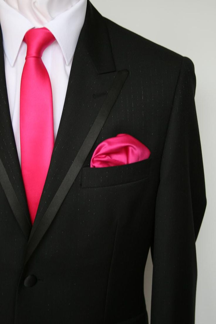 Groomsmen wear gray, ushers in fuchsia, dads and granddads in gray-fuchsia pattern, and Cameron in ivory:)