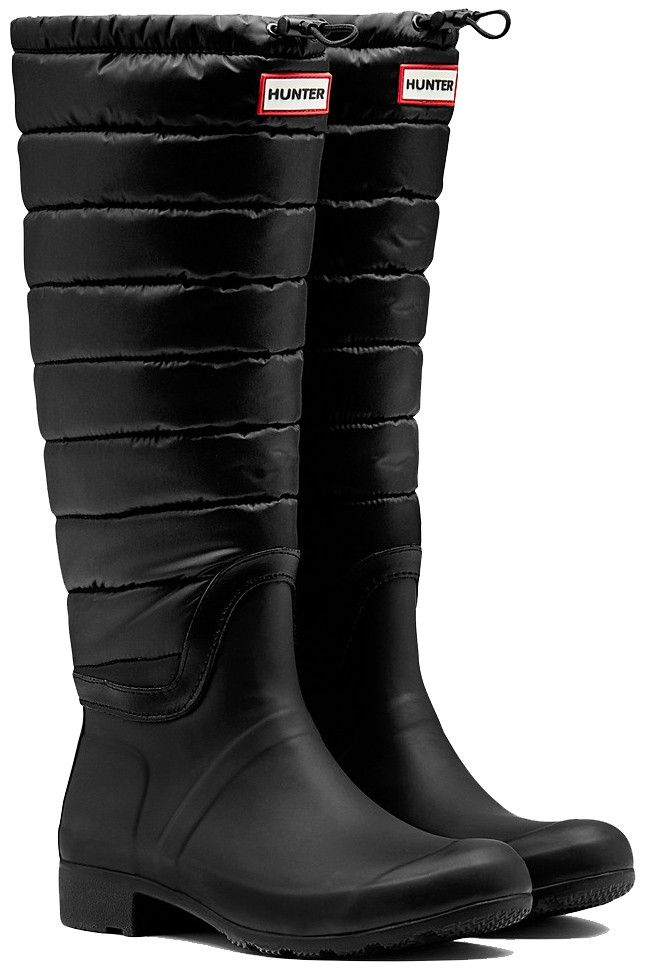 Hunter Original Tall Quilted Leg Rain Boots - • Occasionally white marks may appear on the boots as they are made from natural rubber and nylon leg• Restore shine with Hunter Boot Buffer and Boot Shine• It is not recommended to wear boots in freezing temperatures as rubber may crack