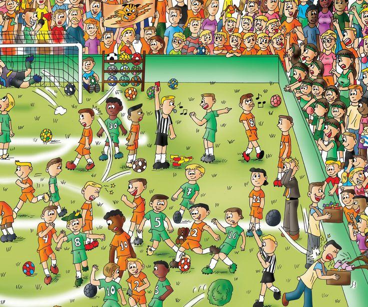 Praatplaat voetbalmatch