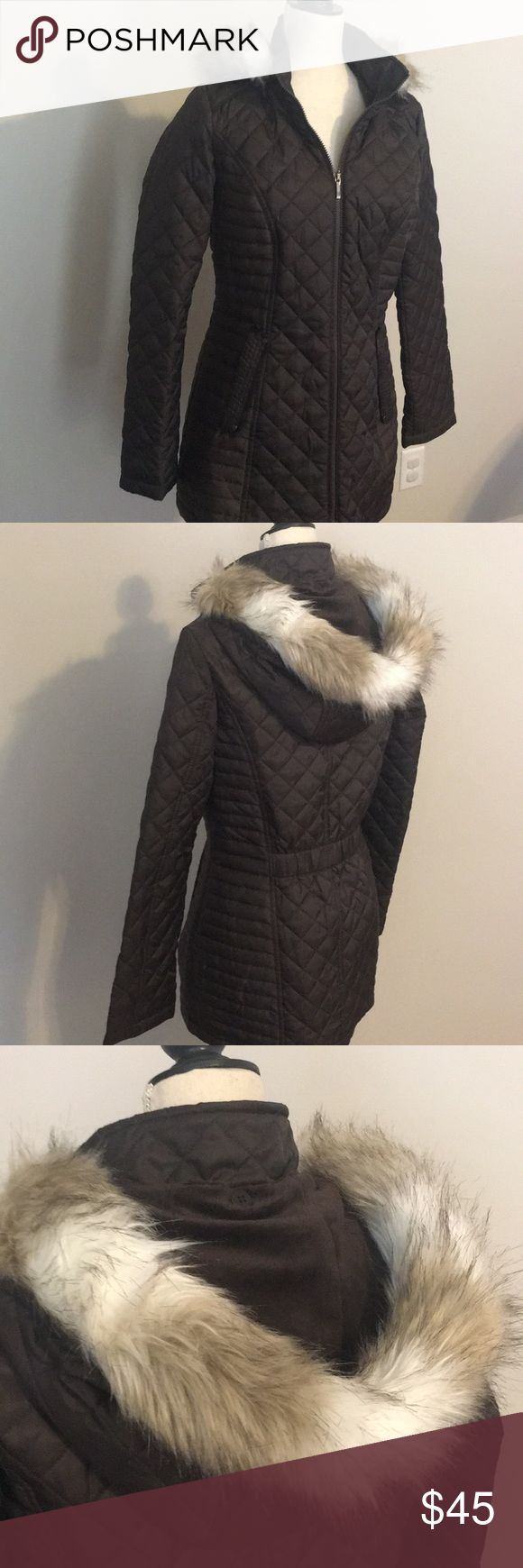Warm Puffer Jacket Adorable puffer jacket with removable faux fur hood. Two front pockets. Like New Laundry by Design Jackets & Coats Puffers