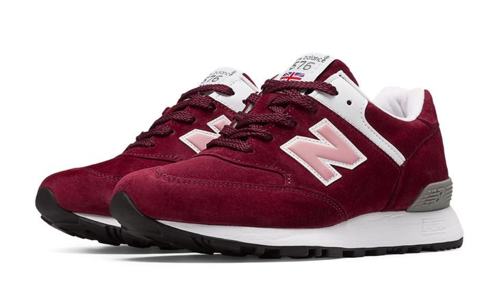 576 Made in UK, Burgundy with White & Pink