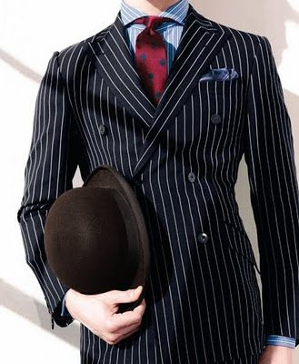 Pin stripe and Bowler hat