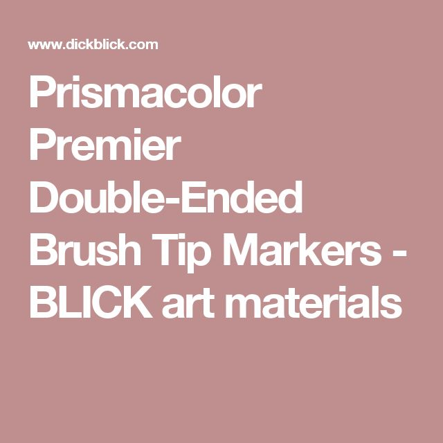 Prismacolor Premier Double-Ended Brush Tip Markers - BLICK art materials