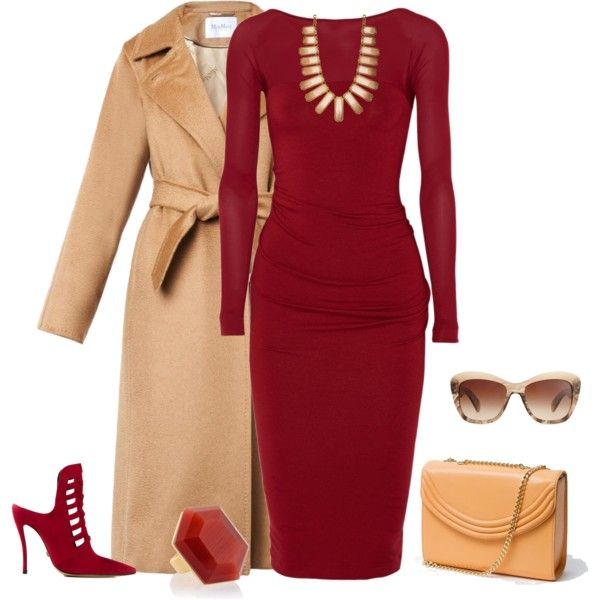 outfit 1353 by natalyag on Polyvore featuring polyvore, fashion, style, Donna Karan, MaxMara, Versace, Lauren Cecchi, Vince Camuto and Oliver Peoples