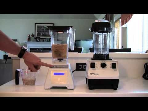 Blendtec Total Blender vs. Vitamix 5200, Part 5 of 5 - Dry Grinding (blender dude) // blendtec makes brown rice flour in 50 seconds.
