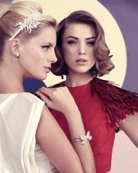 50's, fashion, 1950's, vintage, dress, pastell, 50's fashion, hair, hairstyle      Push La Kokett bracelet