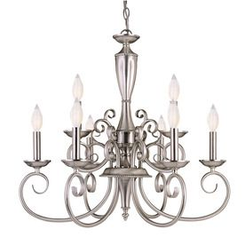 Savoy House Chandelier Fixture Model Spirit 9 Light In Pewter Finish Mission Craftsman From The Silver Finishes Group