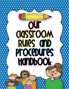 Use these templates to make a class book called Our Classroom Rules and Procedures Handbook. Detailed instructions are included in the download....