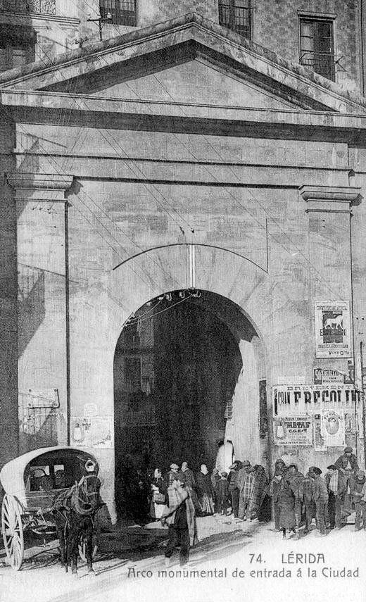 1910. Lleida, Arc del Pont