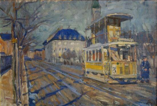Peter Hansen: Sporvognsholdeplads ved Enghavevej