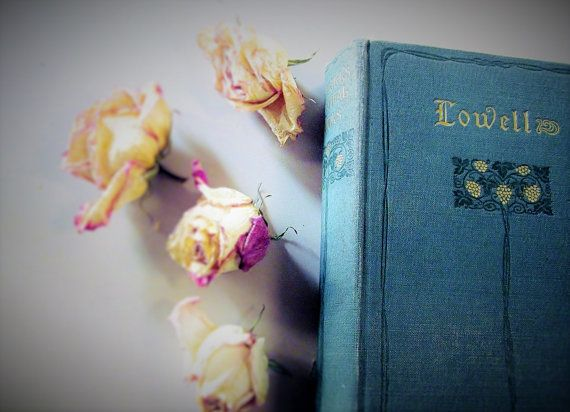 Poems Of James Russell Lowell Antique Vintage Book 1900