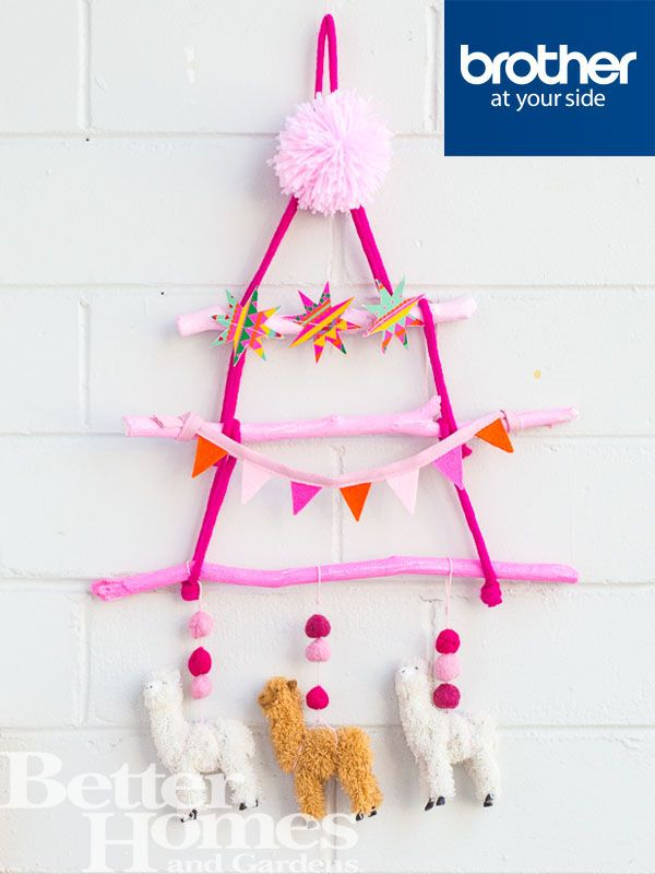 Create a colourful Christmas tree for the kids' play room this year. Try recreating this one from #HipsterMum? http://bit.ly/1l8qr5r @hipstermum @brotherau