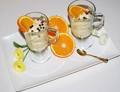 Krem pomarańczowy w pucharkach