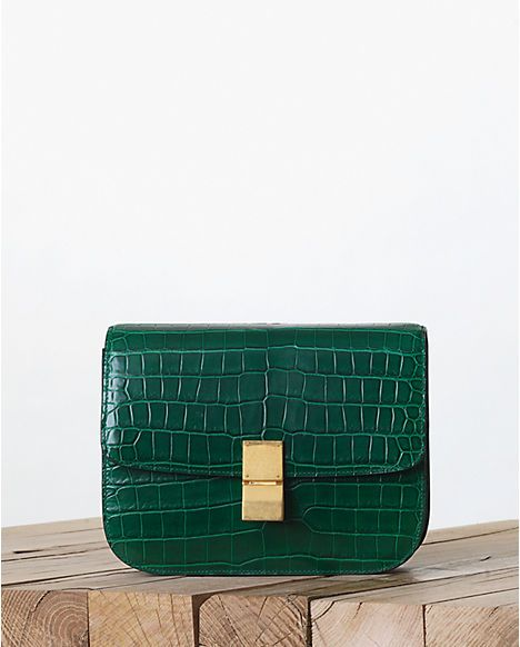 Celine Crocodile Emerald Green Box Bag - Fall 2013