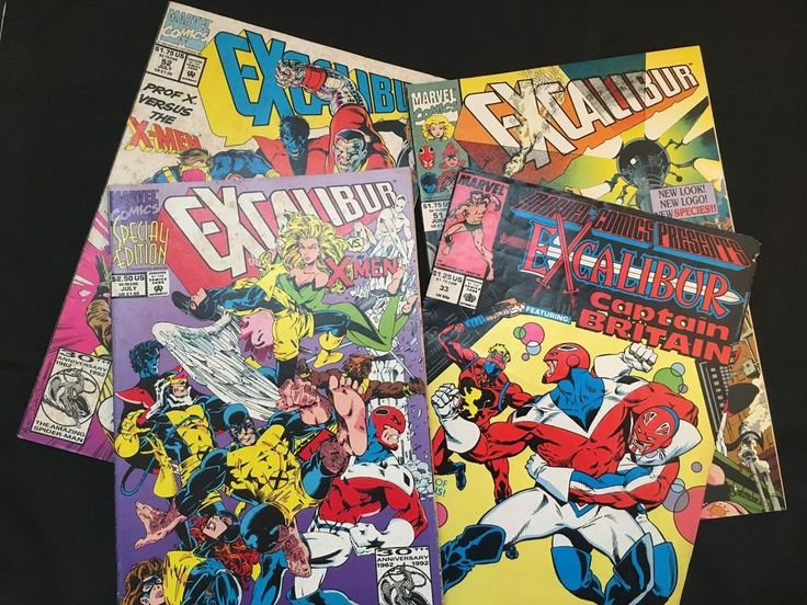 Excalibur vs. X-Men Special Ed. 1st Pr.  + 3 More Excalibur Comics – 4 Books Set in Books, Magazines, Comic Books | eBay!