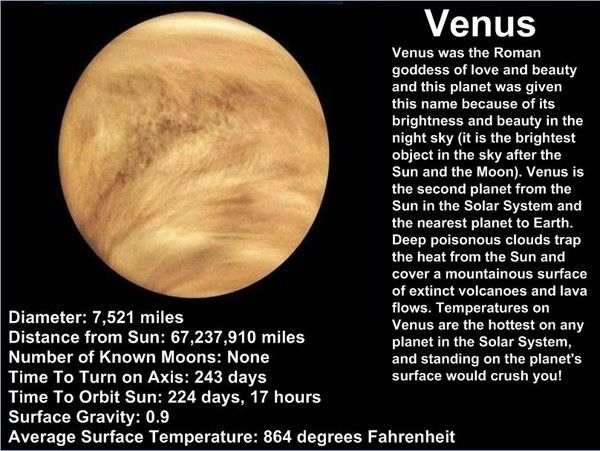 Facts About Venus |