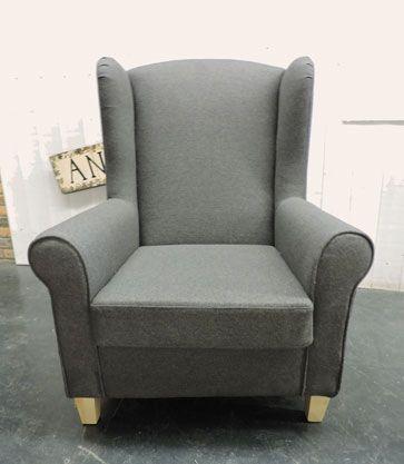 Bergère tissu gris http://www.abcd-aire.com/Canapes_fauteuils.htm