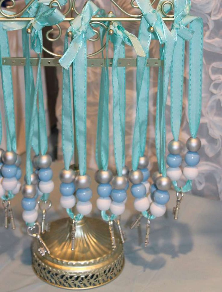 Cute necklace favors at a Cinderella birthday party! See more party planning ideas at CatchMyParty.com!