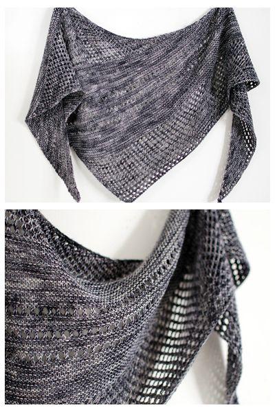 Ravelry: Antarktis shawl with Orange Flower Yarn MCN Light - knitting pattern by Janina Kallio.