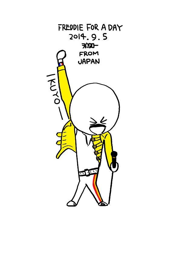 """いくゾ~くん""""IKUYO-"""" Happy Birthday, Freddie! I still love you too! You are hero of people in the world! #freddieforaday"""