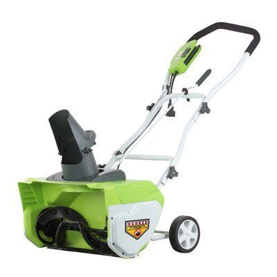 "Greenworks 26032 12 Amp 20"" Corded Snow Thrower, 2015 Amazon Top Rated Snow Blowers #Lawn&Patio"