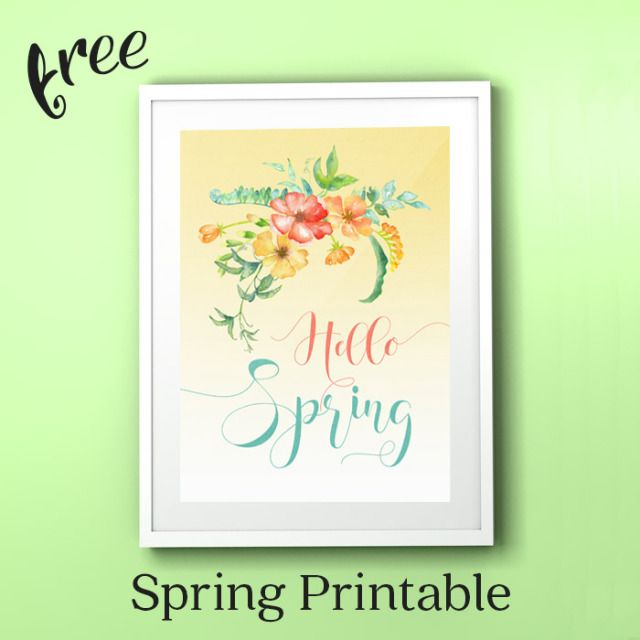 Free Hello Spring Printable A Beautiful Addition To Your