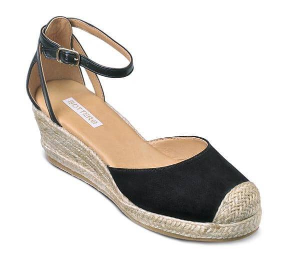 Sandália espadrille anabela preta | Sandálias | Bottero Calçados