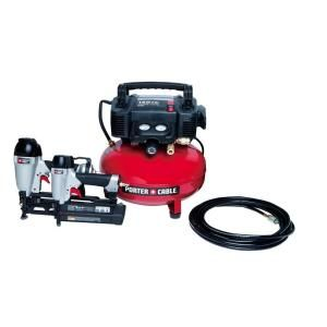 Porter Cable Compressor And 2 Tool Combo Kit Pcfp12656 At