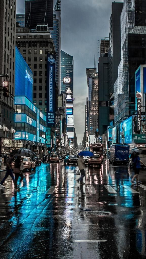 Iphone X 4k Wallpapers New York City Street Reflection Motion Blur