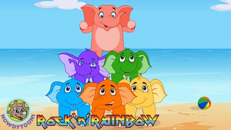 Elephants Have Wrinkles by Rock'n'Rainbow - Music for Kids by Howdytoons