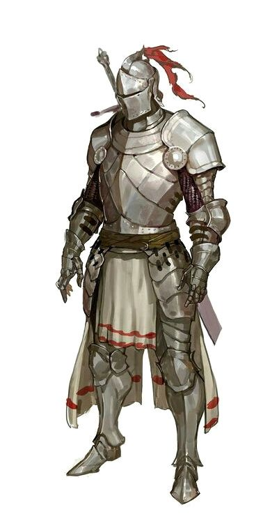 Fighter Knight Cavalier Armor - Pathfinder PFRPG DND D&D d20 fantasy
