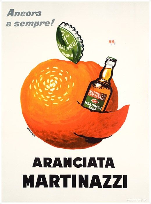 Aranciata Martinazzi. Armando Testa, 1958.