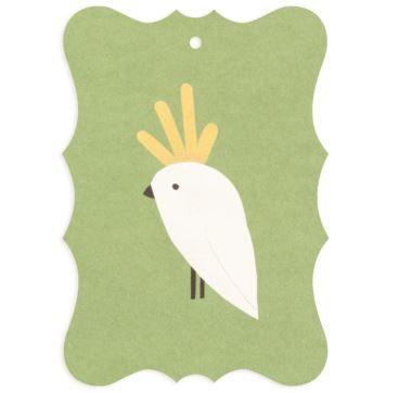 Gifttag Cockatoo - Bobangles #SundayPaper #Australia #gift #tag #cockatoo