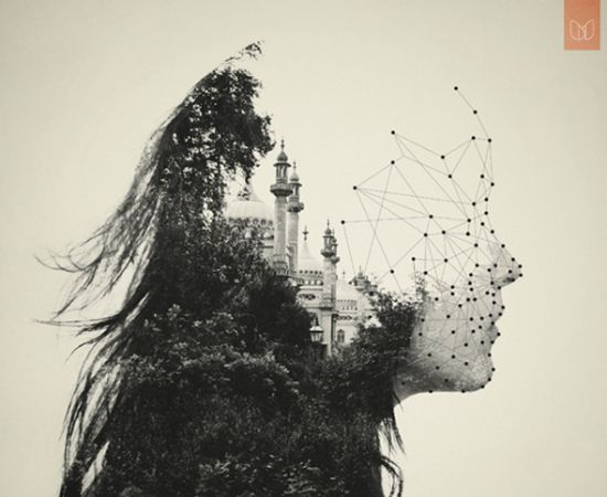 """- Double Exposure Portraits """"The World Inside of Us"""" - by Dan Mountford"""