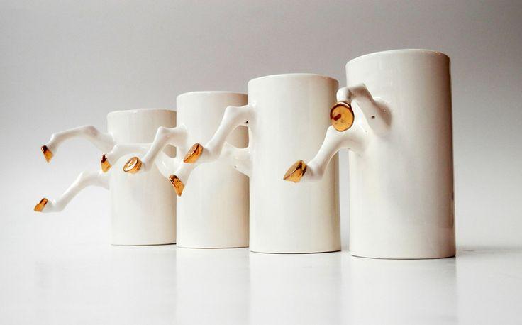 Porcelain Mug  - golden hooves  from Barbara Sniegula by DaWanda.com