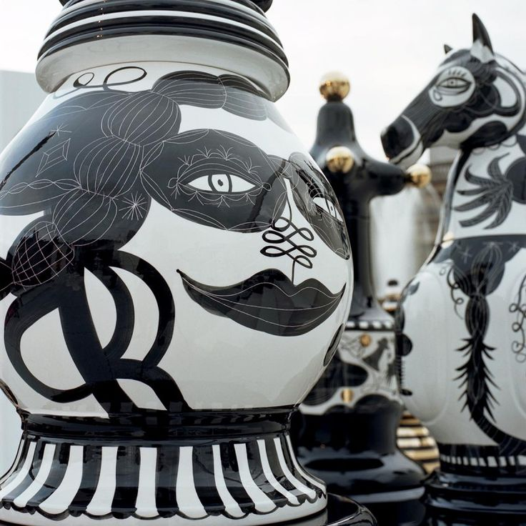 The Tournament exquisite 6 foot tall chess pieces by jamie rayon