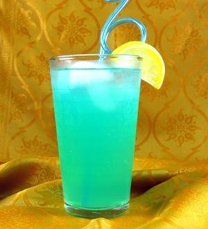 Blue Long Island •1 ounce vodka •1 ounce gin •1 ounce light rum •1 ounce gold tequila •1 ounce Blue Curacao liqueur •5 ounces sweet and sour mix
