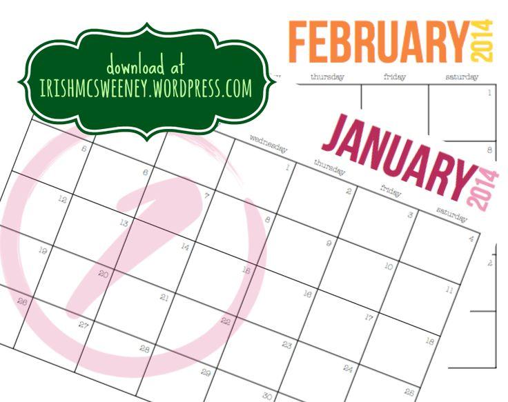 2014 Calendar Simple Circles | IrishMcSweeney.Wordpress.com