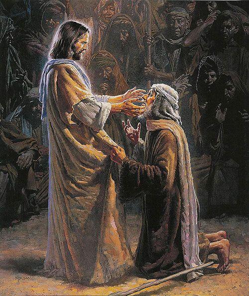 pictures of jesus healing blind man