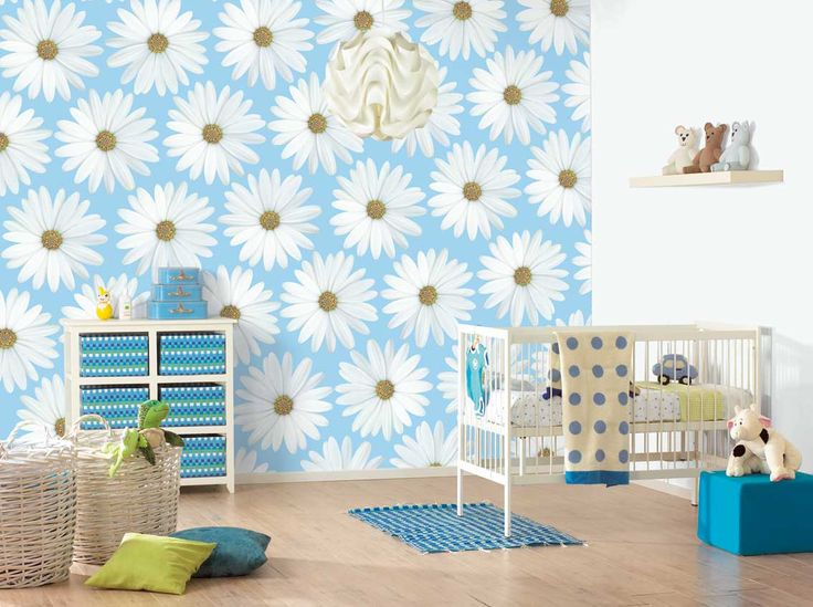 banishing blues and pinks from your nursery - Girls Bedroom Wallpaper Ideas