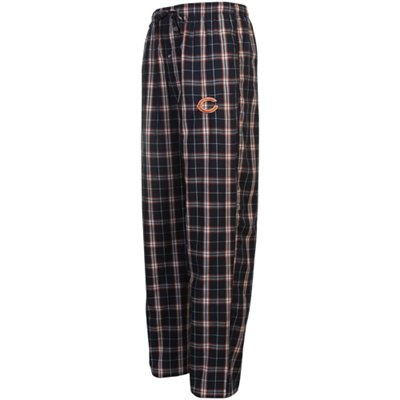 #Fanatics Chicago Bears Draft Pick Woven Plaid Pants - Navy Blue