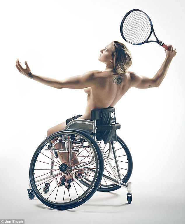 Tennis star Jordanne Whiley is one of four athletes to strip off for a series of striking photos to promote a body positive message ahead of the Rio Games