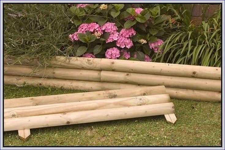 Best beautiful and cheap wood lawn edging ideas wood