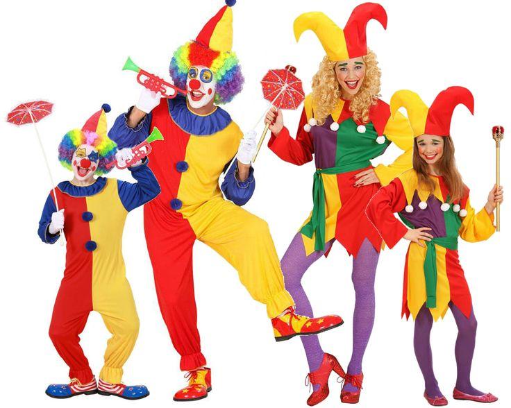 Familia de Payasos #disfraces #carnaval #disfracesparagrupos